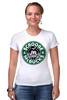 "Футболка Стрэйч (Женская) ""Scrooge McBucks (Starbucks)"" - пародия, coffee, старбакс, скрудж макдак"