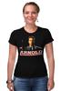 "Футболка Стрэйч ""Arnold Schwarzenegger"" - кино, arnold schwarzenegger, терминатор, terminator, арнольд шварценеггер"