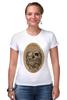 """Футболка Стрэйч (Женская) """"с черепом"""" - skull, череп, скелет, с черепом, хипстер, пират, hipster, sailor, старый моряк"""