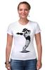 """Футболка Стрэйч """"Robocop x Jackson"""" - пародия, майкл джексон, mj, robocop, робот полицейский"""