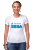 "Футболка Стрэйч (Женская) ""Я-SEGA"" - я, 90-е, sega, 90's, поколение"