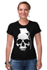 "Футболка Стрэйч ""Череп Граната"" - skull, череп, граната"