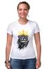 """Футболка Стрэйч """"Король Лев"""" - животные, корона, лев, царь зверей"""