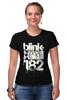 """Футболка Стрэйч (Женская) """"blink-182 """" - punk rock, smile, панк-рок, blink-182, ava, blink 182, скейт-панк"""