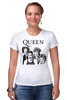 "Футболка Стрэйч ""Queen group"" - queen, фредди меркьюри, freddie mercury, куин, rock music"