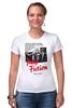 """Футболка Стрэйч (Женская) """"Pulp Fiction"""" - винтаж, tarantino, тарантино, криминальное чтиво, pulp fiction"""