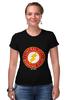 """Футболка Стрэйч (Женская) """"The Flash"""" - flash, супергерои, молния, dc комиксы, флэш"""