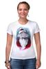 """Футболка Стрэйч (Женская) """"Funny Santa"""" - новый год, santa claus, санта-клаус"""