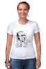 """Футболка Стрэйч """"Чарльз Буковски(Charles Bukowski)"""" - буковски, bukowski, чарльз буковски, charles bukowski"""