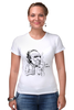 "Футболка Стрэйч (Женская) ""Чарльз Буковски(Charles Bukowski)"" - буковски, bukowski, чарльз буковски, charles bukowski"