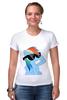 """Футболка Стрэйч (Женская) """"Rainbow Dash"""" - rainbow dash, mlp, my little pony, пони"""