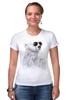 """Футболка Стрэйч (Женская) """"Белый Медведь"""" - bear, медведь, белый медведь"""