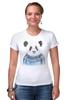 "Футболка Стрэйч (Женская) ""Панда"" - панда, panda"