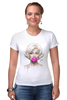 """Футболка Стрэйч (Женская) """"Marilyn Monroe """" - блондинка, мэрилин монро, marilyn monroe, bubble gum"""