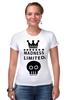 "Футболка Стрэйч (Женская) ""Madness"" - skull, череп, корона, фэшн, crown"
