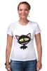 """Футболка Стрэйч (Женская) """"«капризный кот»"""" - кот, животные, рисунок"""