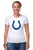 "Футболка Стрэйч ""Indianapolis Colts"" - удача, подкова, nfl, американский футбол, indianapolis colts"