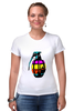 """Футболка Стрэйч (Женская) """"Color Grenade """" - рисунок, grenade, граната, colorful, лимонка"""