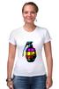 "Футболка Стрэйч ""Color Grenade "" - рисунок, grenade, граната, colorful, лимонка"