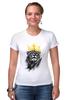 """Футболка Стрэйч """"Король Лев"""" - корона, лев, царь зверей, животные"""