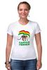 """Футболка Стрэйч (Женская) """"Единая Гвинея"""" - смешно, политика, прикольные футболки, пжив"""