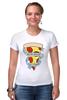 """Футболка Стрэйч """"Пицца Навсегда"""" - пицца, pizza, pizza forever"""