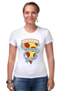 "Футболка Стрэйч (Женская) ""Пицца Навсегда"" - пицца, pizza, pizza forever"