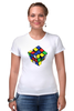 "Футболка Стрэйч (Женская) ""Кубик рубика "" - арт, игра, ретро, rubik's cube"