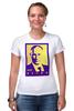 """Футболка Стрэйч (Женская) """"Мой Путин"""" - россия, путин, президент, putin, кремль, мой путин"""