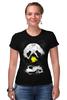 """Футболка Стрэйч """"Панда в маске"""" - bear, медведь, панда, panda"""