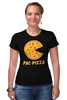 "Футболка Стрэйч ""Пак-Пицца"" - еда, игры, pac-man, пицца, пакмен"