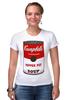 """Футболка Стрэйч (Женская) """"Campbell's Soup (Энди Уорхол)"""" - поп арт, энди уорхол, pop art, andy warhol, campbell's soup"""