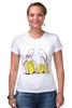 "Футболка Стрэйч (Женская) ""Банан"" - арт, funny, banana, bananas"