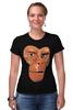 "Футболка Стрэйч (Женская) ""Обезьяна (Планета Обезьян)"" - планета обезьян, planet of the apes"