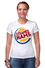 "Футболка Стрэйч ""Steamed Hams (the Simpsons)"" - симпсоны, the simpsons, гамбургер, burger king"