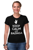 "Футболка Стрэйч ""Bazinga (The Big Bang Theory)"" - the big bang theory, bazinga, keep calm, теория большого взрыва"