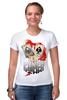 """Футболка Стрэйч """"Звезда покера"""" - череп, арт, авторские майки, жизнь, карты, скелет, покер, стрит, зеро, очко"""