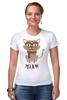 """Футболка Стрэйч (Женская) """"Умный Кот"""" - кот, очки, cat, meow"""