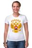 """Футболка Стрэйч """"Россия герб"""" - русский, патриот, родина, держава, горжусь"""