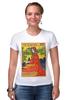 """Футболка Стрэйч (Женская) """"ретро постер"""" - арт, ретро, иллюстрация, постер, афиша"""