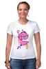 "Футболка Стрэйч ""My Little Pony: Friendship is Magic Logo"" - logo, rainbow dash, my little pony, applejack, rarity, friendship is magic, fluttershy, twilight sparkle, pinkie pie"