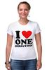 "Футболка Стрэйч (Женская) ""One Direction"" - one direction"