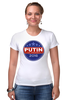 """Футболка Стрэйч (Женская) """"Путина в президенты Америки (2016)"""" - usa, путин, сша, putin"""