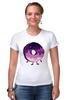 """Футболка Стрэйч (Женская) """"Космический Пончик (Space Donut)"""" - пончик, donut, космический пончик, space donut"""