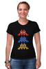 "Футболка Стрэйч (Женская) ""Space invaders                  "" - space invaders, пиксель арт, pixel art"