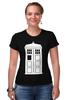 "Футболка Стрэйч (Женская) ""Tardis (Тардис)"" - сериал, doctor who, tardis, доктор кто, машина времени, телефонная будка, time machine, phone box"