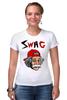 "Футболка Стрэйч ""Art Swag"" - style, swag, свэг, эйнштейн, einstein"