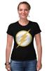 """Футболка Стрэйч (Женская) """"Flash (Молния)"""" - flash, молния, флэш"""