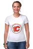 "Футболка Стрэйч ""Calgary Flames"" - хоккей, nhl, нхл, калгари флеймз, calgary flames"