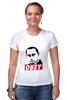 "Футболка Стрэйч (Женская) ""Путин Obey"" - путин, putin"